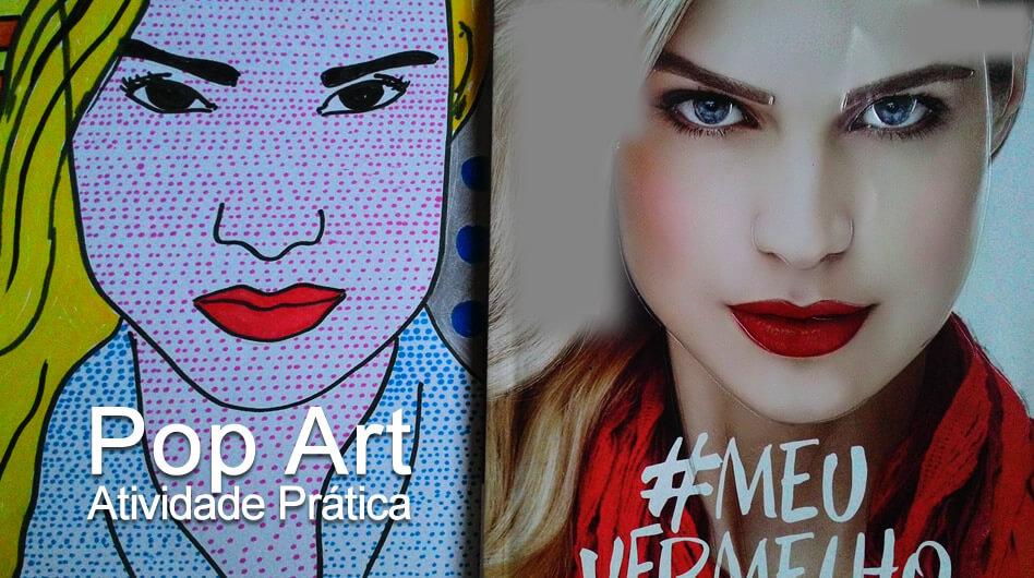 Como fazer Pop Art estilo quadrinhos – Atividade de Pop Arte